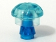Part No: jellyfish  Name: Jellyfish, Trans-Light Blue Top with Trans-Dark Blue Cone