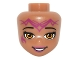 Part No: 19836  Name: Mini Doll, Head Friends with Orange Eyes, Wide Smile and Magenta Elves Tribal Pattern (Azari)