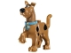 Part No: 21042pb01c01  Name: Dog, Great Dane Scooby-Doo Walking with Medium Azure Collar Pattern