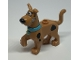 Part No: 21042pb01c02  Name: Dog, Great Dane Scooby-Doo Walking with Medium Azure Collar, Chattering Teeth Pattern