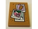 Part No: 26603pb022  Name: Tile 2 x 3 with Cork Board with Pinned Bow and Popsicle Photos Pattern (Sticker) - Set 41342