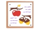 Part No: 3068bpb1064  Name: Tile 2 x 2 with Shopping List with Medium Lavender Lines, Branches with Red Apple and Acorns Pattern (Sticker) - Set 41182