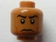 Part No: 3626bpb0626  Name: Minifigure, Head Male Stern Black Eyebrows, White Pupils Pattern (SW Captain Panaka) - Blocked Open Stud