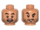 Part No: 3626cpb1570  Name: Minifigure, Head Dual Sided Black Eyebrows, Stubble Beard, White Pupils, Open Mouth Scared / Crooked Grin, Eyebrow Raised Pattern - Hollow Stud