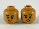 Part No: 3626cpb2399  Name: Minifigure, Head Dual Sided Black Eyebrows, Reddish Brown Chin, Grin / Scared Pattern - Hollow Stud