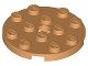 Part No: 60474  Name: Plate, Round 4 x 4 with Hole