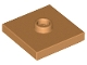 Part No: 87580  Name: Plate, Modified 2 x 2 with Groove and 1 Stud in Center (Jumper)