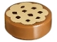 Part No: 98138pb014  Name: Tile, Round 1 x 1 with Cookie Tan Frosting and Chocolate Sprinkles Pattern