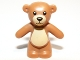 Part No: 98382pb001  Name: Teddy Bear with Black Eyes, Nose and Mouth and Tan Belly and Muzzle Pattern