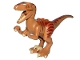 Part No: Raptor03  Name: Dino Raptor with Tan Claws and Dark Orange and Dark Brown Back - Complete Asssembly