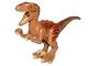 Part No: Raptor03  Name: Dinosaur, Raptor / Velociraptor with Dark Orange Back