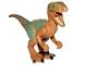 Part No: Raptor05  Name: Dinosaur, Raptor / Velociraptor with Olive Green Back and Sand Green Markings (Jurassic World Echo)