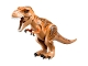 Part No: TRex04  Name: Dino T-Rex with Dark Orange and Dark Brown Back - Complete Assembly (75918)