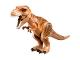 Part No: TRex04  Name: Dinosaur, Tyrannosaurus rex with Dark Orange Back and Dark Brown Markings