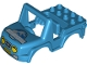Part No: 20497pb04  Name: Duplo Car Body Off Road with Headlights and Jurassic World Logo Pattern