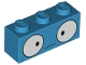 Part No: 3622pb093  Name: Brick 1 x 3 with Large Round Eyes and Confused Expression Pattern