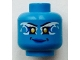 Part No: 3626cpb1705  Name: Minifig, Head Alien Female Yellow Eyes and White and Blue Airjitzu Electricity Pattern - Stud Recessed