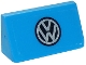 Part No: 85984pb157  Name: Slope 30 1 x 2 x 2/3 with VW Logo Pattern (Sticker) - Set 40252