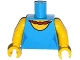 Part No: 973pb2002c01  Name: Torso Simpsons Dress with Round Neckline and Red Necklace Pattern / Yellow Arms / Yellow Hands
