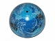 Part No: 98107pb04  Name: Cylinder Hemisphere 11 x 11, Studs on Top with Kamino Black / Blue / White Planet Pattern (75006)