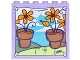 Part No: 59349pb129  Name: Panel 1 x 6 x 5 with Backdrop with Flower Pots, Bright Light Orange Daisies, Blue Sky and Clouds Background Pattern (Sticker) - Set 41305