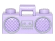 Part No: 93221pb02  Name: Minifig, Utensil Radio Boom Box with Handle and Silver Trim Pattern
