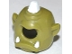 Part No: 11257pb01  Name: Minifigure, Headgear Mask Cyclops with White Horn and White Teeth Pattern