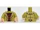 Part No: 973pb1791c01  Name: Torso LotR Coat with Tan Fur Lining over Reddish Brown Shirt Pattern / Olive Green Arms / Light Flesh Hands