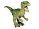 Part No: Raptor04  Name: Dinosaur, Raptor / Velociraptor with Dark Green Back, Lime Markings and Black Claws (Jurassic World Charlie)