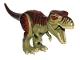 Part No: TRex03  Name: Dinosaur, Tyrannosaurus rex with Reddish Brown Back