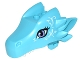 Part No: 24196pb01  Name: Dragon Head (Elves) Upper Jaw with Medium Lavender Eyes and White Swirls Pattern (Merina)