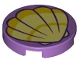 Part No: 14769pb227  Name: Tile, Round 2 x 2 with Bottom Stud Holder with Scallop Shell Pattern