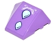 Part No: 64225pb018  Name: Wedge 4 x 3 No Studs with Bright Light Blue Dragon Scales and White Elves Scrollwork Pattern (Sticker) - Set 41178