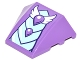 Part No: 64225pb019  Name: Wedge 4 x 3 No Studs with Bright Light Blue and Medium Lavender Dragon Scales and White Wings Pattern (Sticker) - Set 41178
