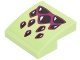 Part No: 15068pb106  Name: Slope, Curved 2 x 2 with Magenta and Black Dragon Claws Pattern (Sticker) - Set 41183