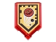 Part No: 22385pb026  Name: Tile, Modified 2 x 3 Pentagonal with Nexo Power Shield Pattern - Globlin Attack