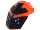 Part No: 11269pb04  Name: Hero Factory Helmet Visor with Clip with Face Guard Pattern Type 4