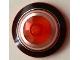 Part No: 3960pb048  Name: Dish 4 x 4 Inverted Radar with Black, Orange, and Metallic Silver Circles Pattern