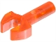 Part No: 48729b  Name: Bar   1L with Clip Mechanical Claw, Cut Edges and Hole on One Side