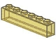 Part No: 3067  Name: Brick 1 x 6 without Bottom Tubes