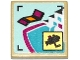 Part No: 11203pb024  Name: Tile, Modified 2 x 2 Inverted with Surveillance Camera Screen, Lounge Chair and Pool Pattern (Sticker) - Set 41135
