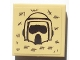 Part No: 11203pb031  Name: Tile, Modified 2 x 2 Inverted with SW Scout Trooper Helmet and Tally Marks Pattern (Sticker) - Set 10236