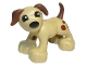 Part No: 1396pb01  Name: Duplo Dog Large Paws with Brown Ears and Tail and Spots