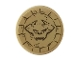 Part No: 14769pb142  Name: Tile, Round 2 x 2 with Bottom Stud Holder with Demon Head in Carved Stone Pattern (Sticker) - Set 76056