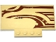 Part No: 15625pb008L  Name: Slope, Curved 5 x 8 x 2/3 with SW Wookiee Gunship Front Pattern Model Left Side (Sticker) - Set 75084