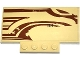 Part No: 15625pb008R  Name: Slope, Curved 5 x 8 x 2/3 with SW Wookiee Gunship Front Pattern Model Right Side (Sticker) - Set 75084