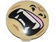 Part No: 2654pb003  Name: Plate, Round 2 x 2 with Rounded Bottom and Gorilla Mouth with Teeth and Fangs Pattern