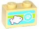 Part No: 3004pb128  Name: Brick 1 x 2 with Paw Print and Fish Pattern (Sticker) - Set 41085