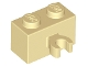 Part No: 30237b  Name: Brick, Modified 1 x 2 with Vertical Clip (thick open O clip)