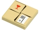 Part No: 3068bpb0286  Name: Tile 2 x 2 with Parcel Tan with Red Fragile Goblet Pattern (Sticker) - Set 7734
